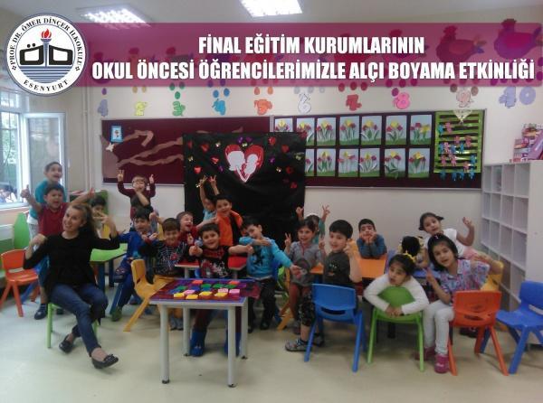 Let S Firmasinin Okul Oncesi Ogrencilerimizle Alci Boyama