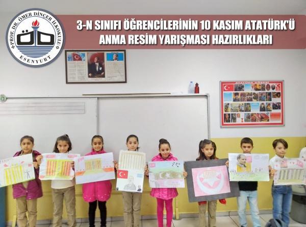 3 N Sinifi Ogrencilerimizin 10 Kasim Ataturk U Anma Resim